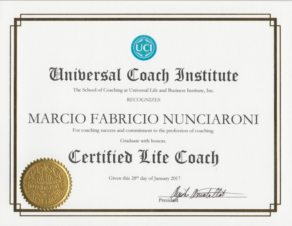 Professional Certifications Marcio Fabricio Coaching